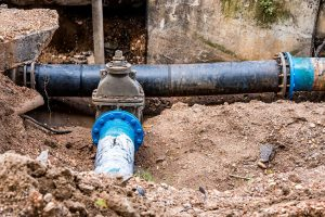 A Backflow Prevention Device Connected to a Sewer Line
